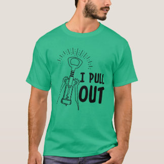 Saco la camiseta causal del vino del humor