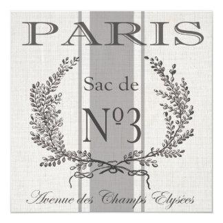 saco moderno del grano de París del francés del Invitación 13,3 Cm X 13,3cm