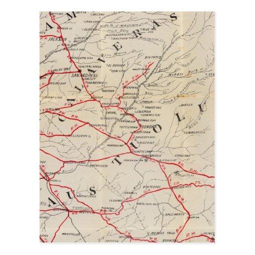 Sacramento, Amador, Calaveras, San Joaquín Tarjeta Postal