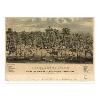 Sacramento California en 1850 Tarjeta Postal