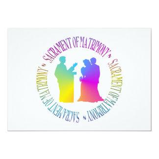 Sacramento del matrimonio invitación personalizada