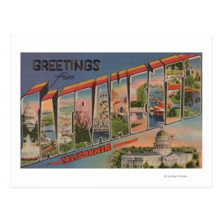 Sacramento, escenas de la letra de CaliforniaLarge Postal