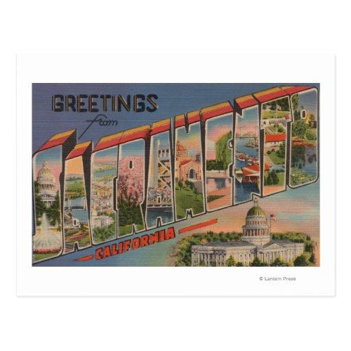 Sacramento, escenas de la letra de CaliforniaLarge Postales