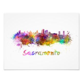 Sacramento skyline in watercolor foto