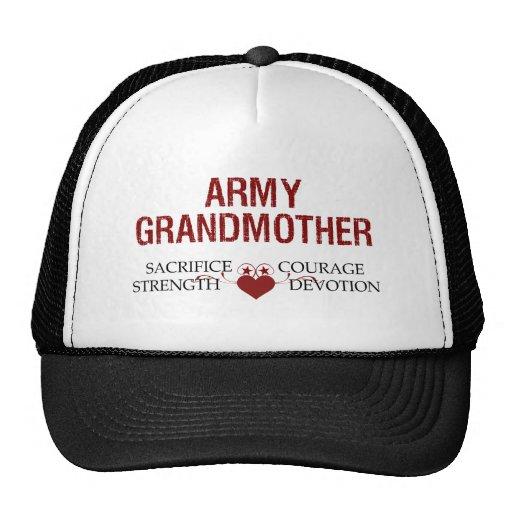 Sacrificio de la abuela del ejército, fuerza, valo gorro de camionero