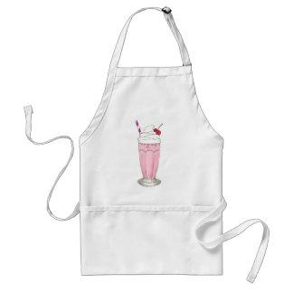 Sacudida del Milkshake del helado de fresa del Delantal