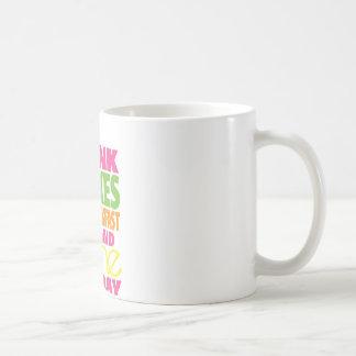 Sacudida y brillo tazas de café