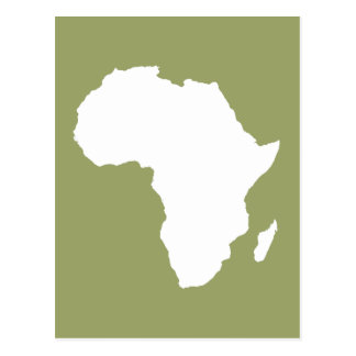 Safari África audaz verde Postal