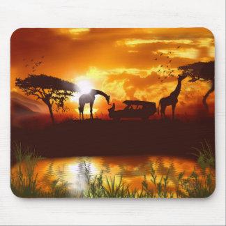 Safari africano en el cojín de ratón de la selva alfombrilla de ratón