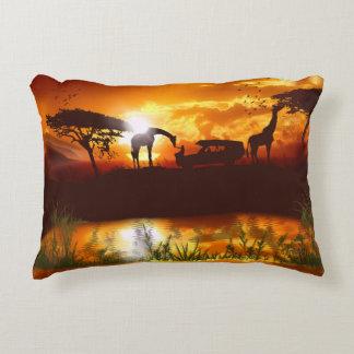 Safari africano en la selva - almohada de la felpa