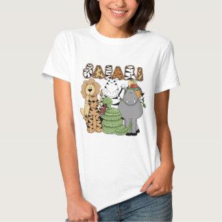 Safari animal camisas