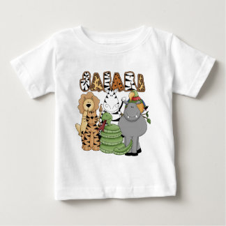 Safari animal camiseta de bebé