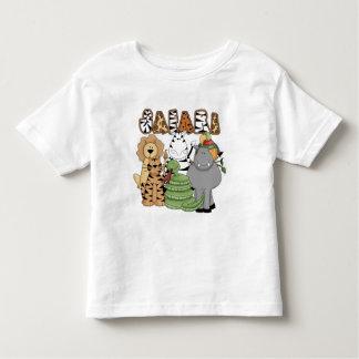 Safari animal camiseta de niño