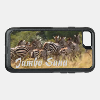 Safari animal de la migración del paso de cebra de funda commuter de OtterBox para iPhone 7