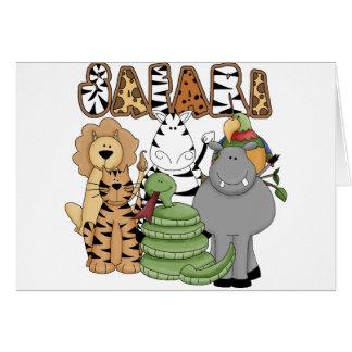 Safari animal tarjeta de felicitación