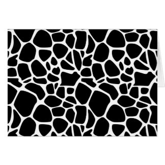 Safari blanco y negro tarjeta de felicitación