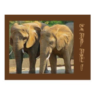 Safari de encargo del elefante postal