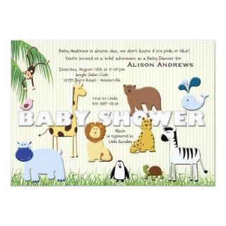 Safari de la fiesta de bienvenida al bebé invitación 12,7 x 17,8 cm