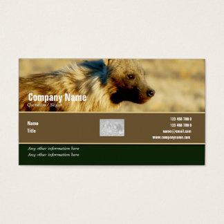 Safari de los hyenas del perfil de la tarjeta de