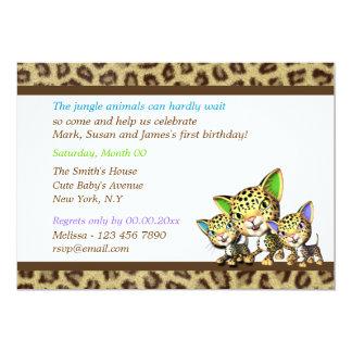 Safari de selva del cumpleaños del bebé invitación 12,7 x 17,8 cm