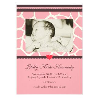 Safari del bebé::  Invitación del nacimiento de la
