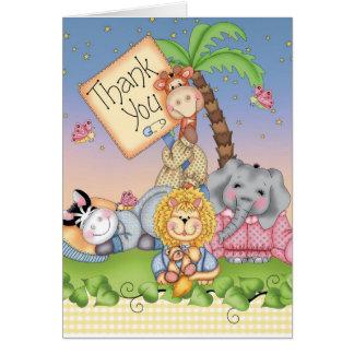 Safari del bebé tarjeta pequeña