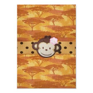 Safari del mono invitación 8,9 x 12,7 cm