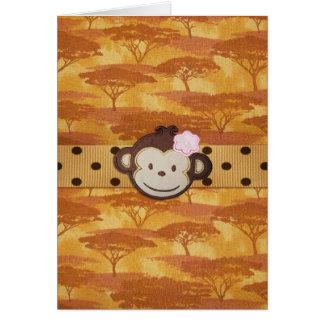 Safari del mono tarjeta