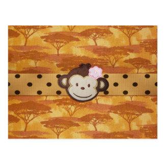 Safari del mono postal