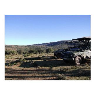 Safari del paisaje del jeep postal