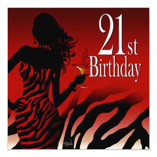 Safari del vestido de fiesta del cumpleaños de la invitación 13,3 cm x 13,3cm
