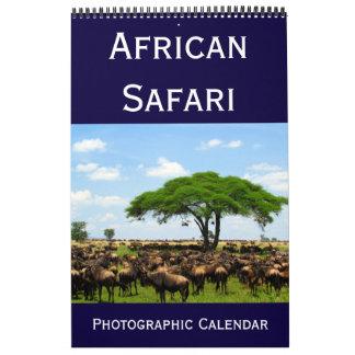 safari fotográfico africano 2018 calendarios de pared