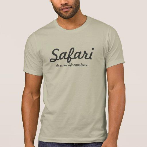 Safari gris claro camisetas