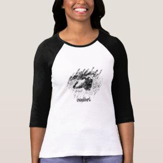 Safari. (Señoras 3/4 raglán de la manga) Camiseta