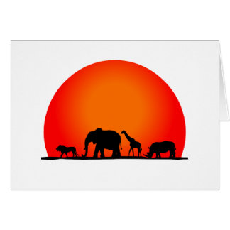 Safari Tarjeta De Felicitación