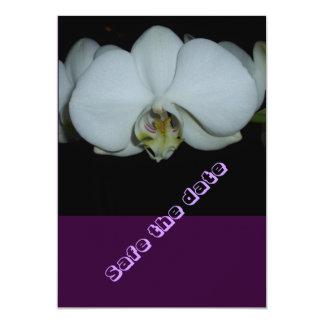 safe date- the flor blanqueada de orquídea invitación 12,7 x 17,8 cm