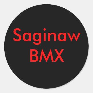 Saginaw BMX Pegatina Redonda