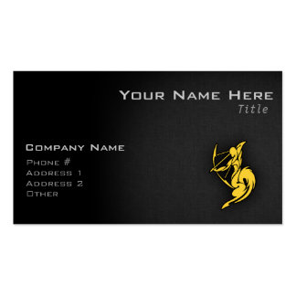 Sagitario ambarino amarillo tarjetas de visita