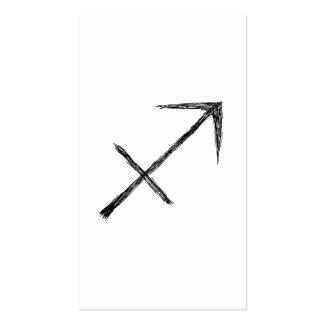 Sagitario. Muestra de la astrología del zodiaco Tarjeta De Visita