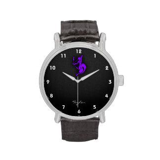 Sagitario púrpura violeta relojes de pulsera