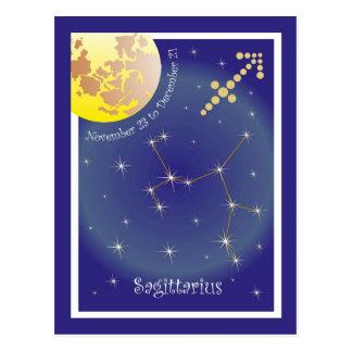 Sagittarius el noviembre 23 to December 21 tarjeta