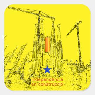 Sagrada Estelada: Independencia en construccio Pegatina Cuadrada