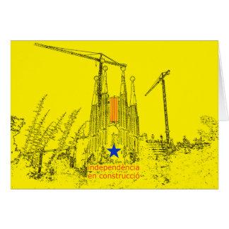 Sagrada Estelada: Independencia en construccio Tarjeta Pequeña