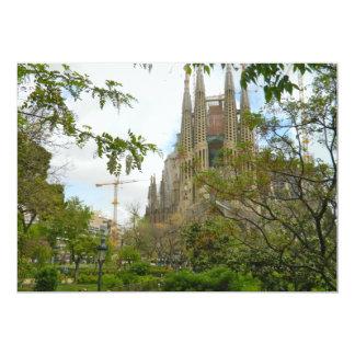 Sagrada Família, Barcelona Invitación 12,7 X 17,8 Cm