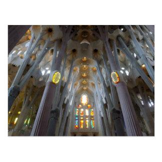 Sagrada Familia Interiores calendario 2014 Tarjeta Postal