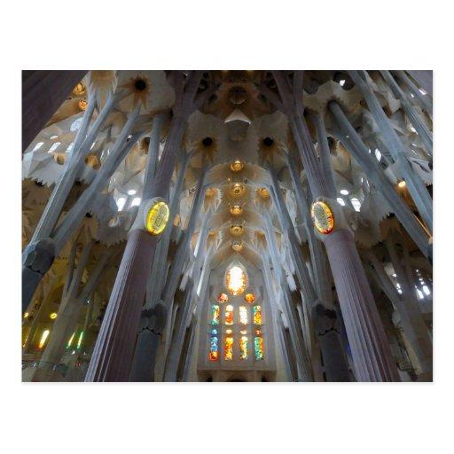 Sagrada Familia. Interiores. calendario 2014 Tarjeta Postal