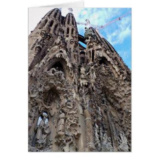 Sagrada Familia, natividad Façade - foto de Tarjeta De Felicitación