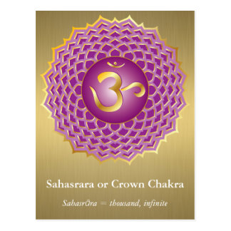 Sahasrara o postal de Chakra de la corona