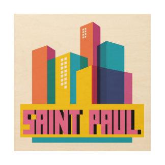 Saint Paul en diseño Impresión En Madera