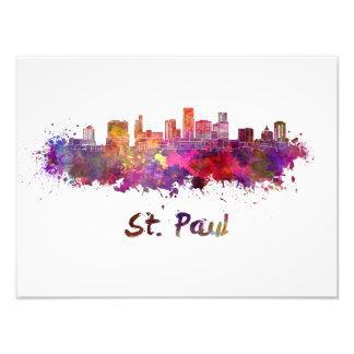 Saint Paul skyline in watercolor Foto